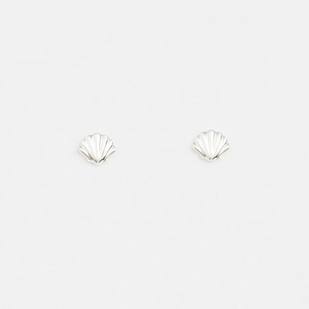Stella + Gemma Earring Mini Scallop Silver