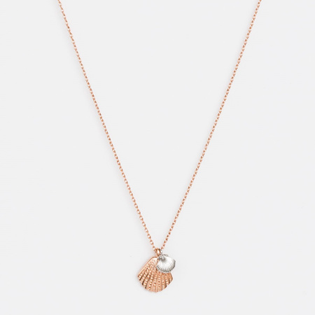 Stella + Gemma Necklace Shell / Pearl Rose Gold