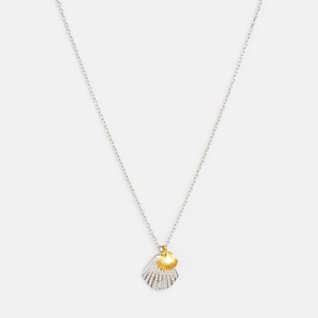 Stella + Gemma Necklace Shell/Pearl Silver