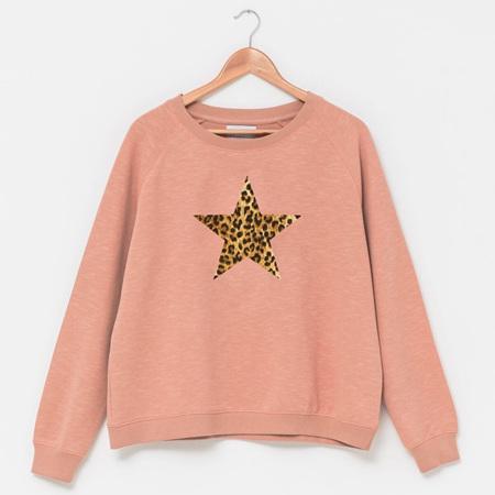 Stella & Gemma - Sweater Blush w Leopard Star