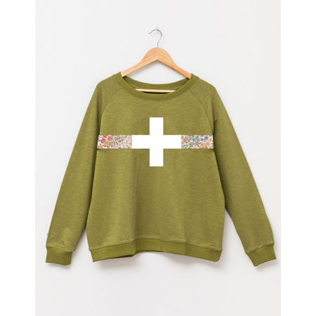 STELLA GEMMA Sweater Moss with Floral Band