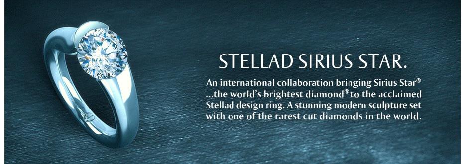 Stellad Sirius Star - Tension Set Platinum Diamond Ring