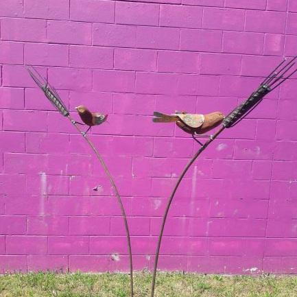 Stem Sparrow on Rod