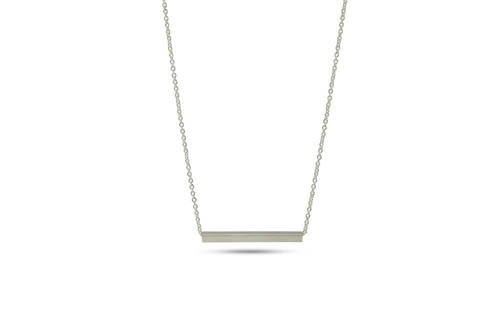 Sterling Silver Bar Necklace - The Village Goldsmith 8d93e37a8
