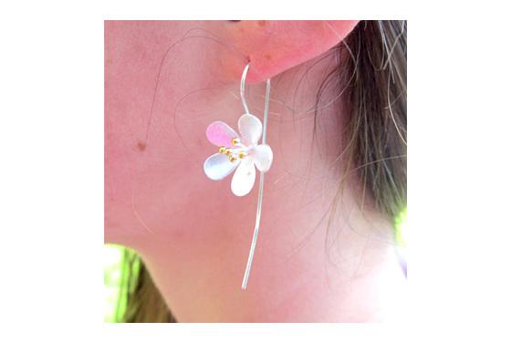 Sterling silver bohemian drop earrings