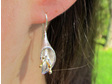Sterling silver calla lily drop earrings