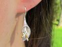 Sterling silver calla lily drop earrings