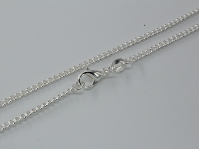"""Sterling Silver Curb Chain 18"""""""