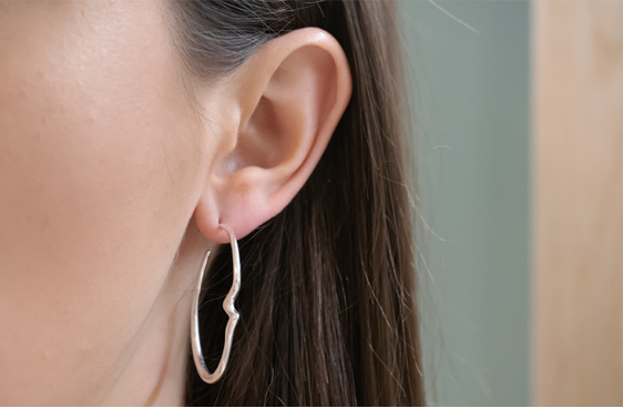 Sterling Silver, Essence, Hoop Earrings, Whim