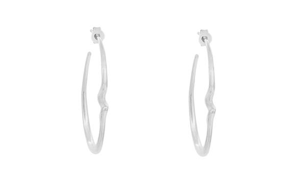 Sterling Silver, Essence, Hoop Earrings, Whim