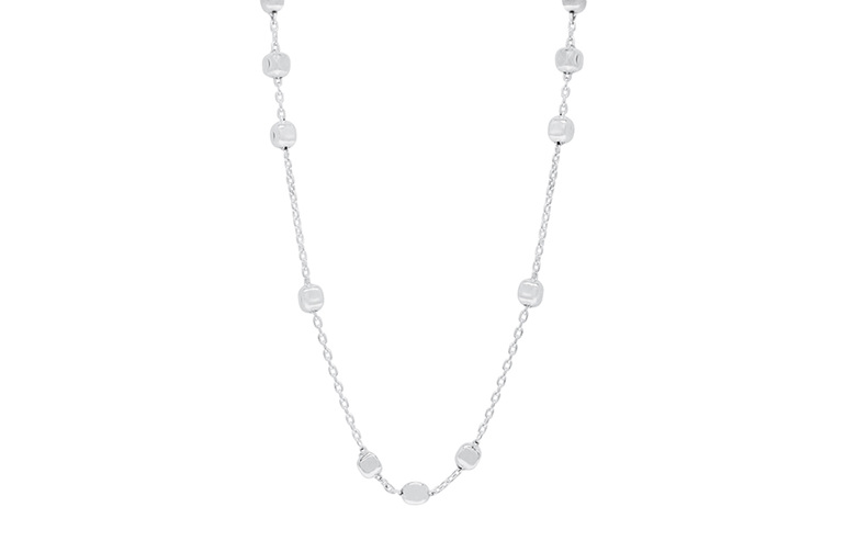 sterling silver figaro cubes necklace