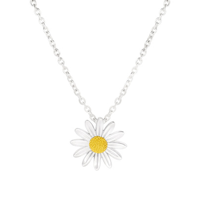 15mm Sterling Silver Daisy Pendant