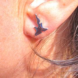X12 New Zealand Island silver stud earrings