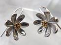 Sterling silver NZ Clematis drop earrings