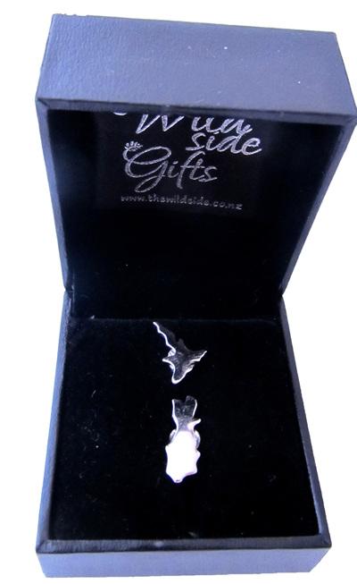 New Zealand Island silver stud earrings