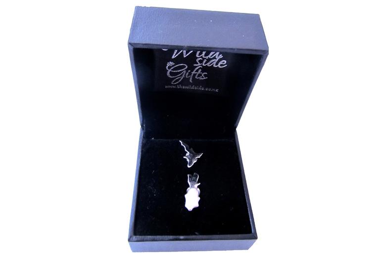 Sterling silver NZ island stud earrings