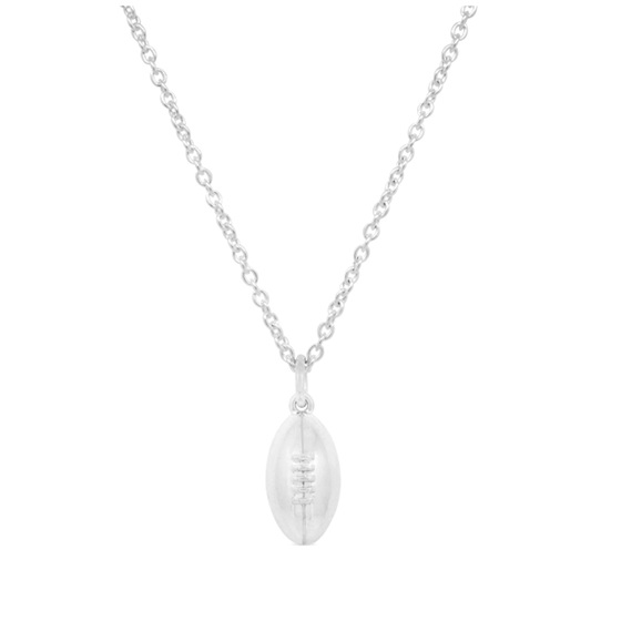 Sterling Silver Rugby Ball Pendant