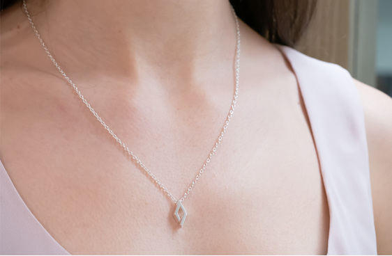 Sterling Silver, Verge, Pendant, Whim