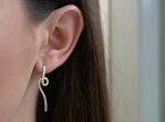Sterling Silver, Whim Earrings, Flux