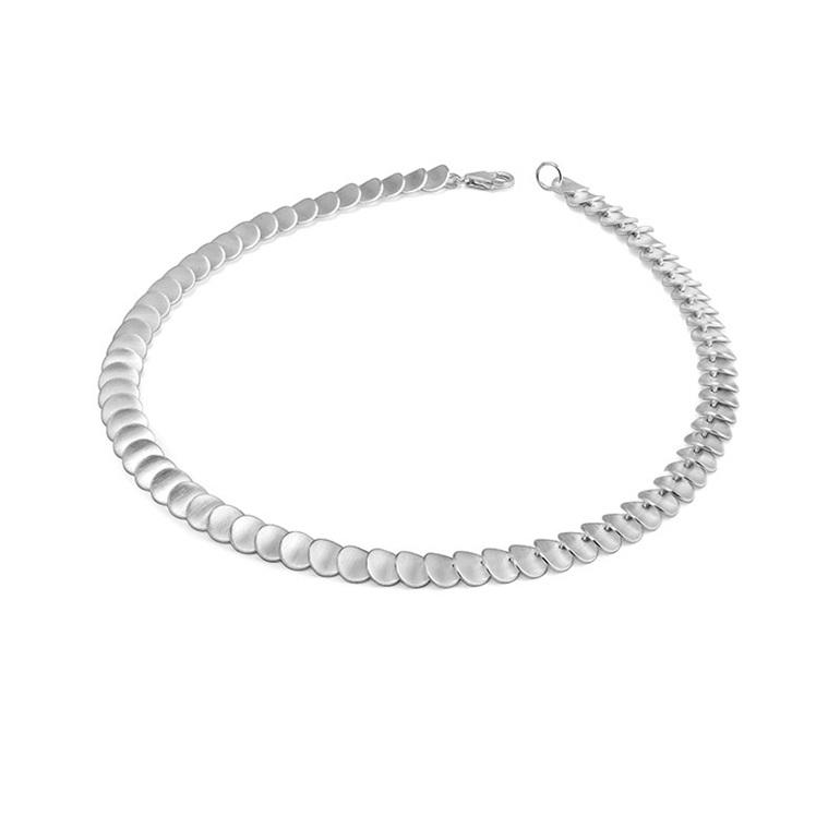 sterling silver zinnia flower petal necklace