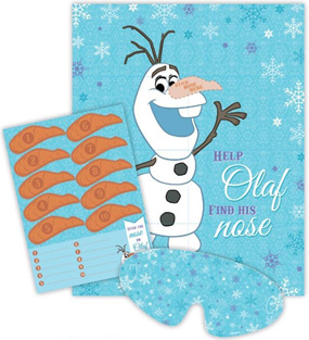 Stick the nose on Olaf frozen party game