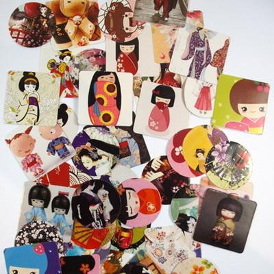 Stickers - Japanese Dolls