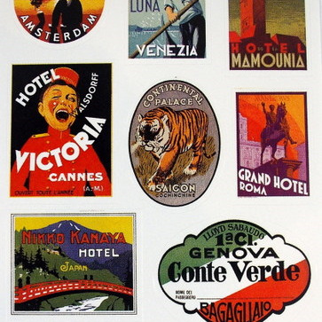 Stickers - Old-Fashioned Luggage Labels