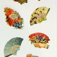 Stickers - Vintage Victoriana Fans