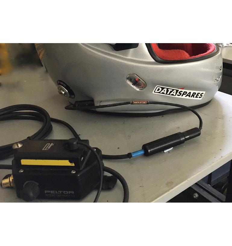 Stilo helmet connected to Peltor amplifier