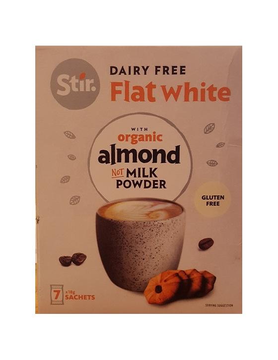 Stir Flat White Sachets with Almond Milk