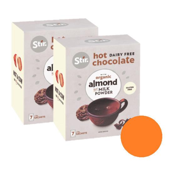 Stir Hot Chocolate Sachets with Almond Milk