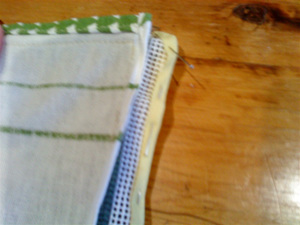 Stitch bias binding