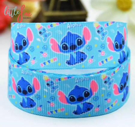 Stitch Blue Hair Bows