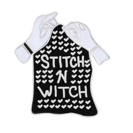 Stitch n' Witch Enamel Pin