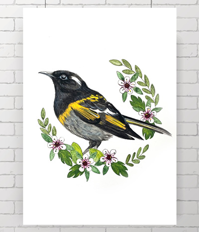Stitchbird - HIHI - original painting