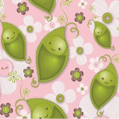 Stitched Garden - Pink Sweet Peas