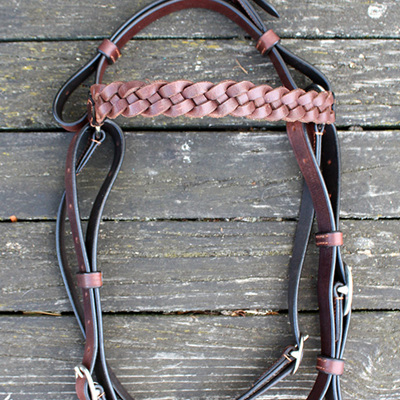 Stockmans Bridle with Plaited Browband