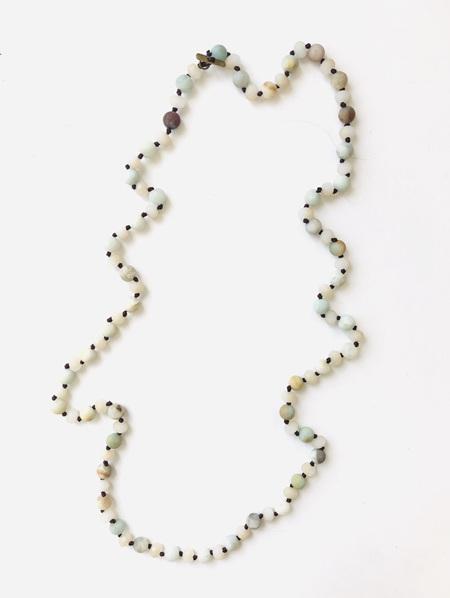 Stone Necklace - Sage, Mint & Cream