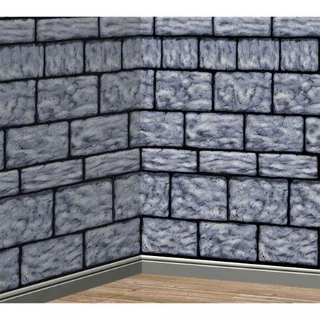 Stone wall look room roll