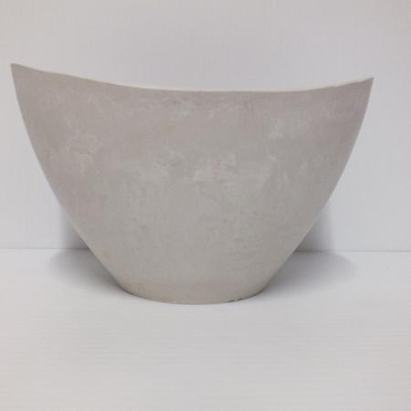 Stonefusion White Boat shaped Bowl C8333