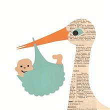 Stork card - Baby Boy