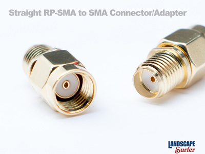 Straight RP-SMA to SMA Connector/Adapter