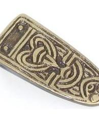 Strap End 2 - Brass Viking Strap End