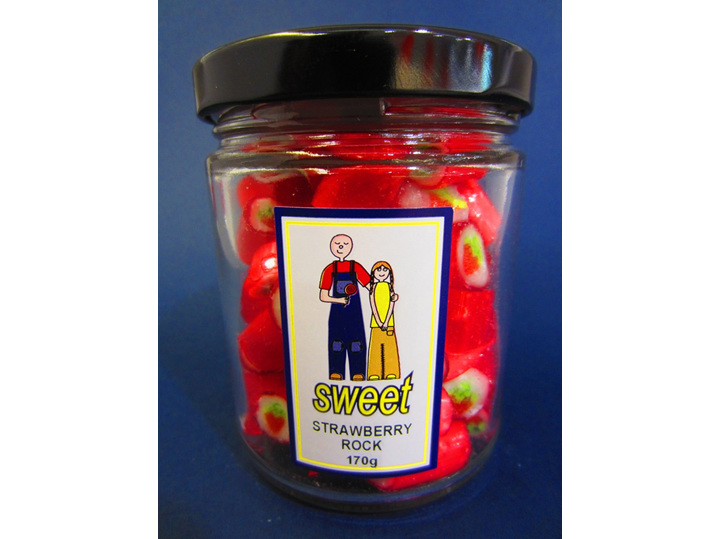 strawberry rock candy jar