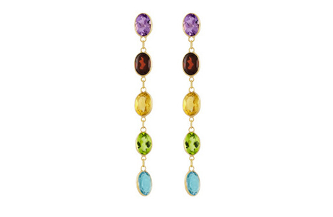 Streak of Colour Drop Stud Earrings