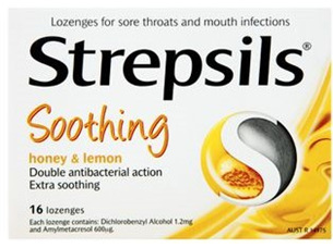 Strepsils Lozenges Honey & Lemon