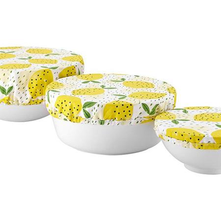Stretch Bowl Covers 3pk - Lemony