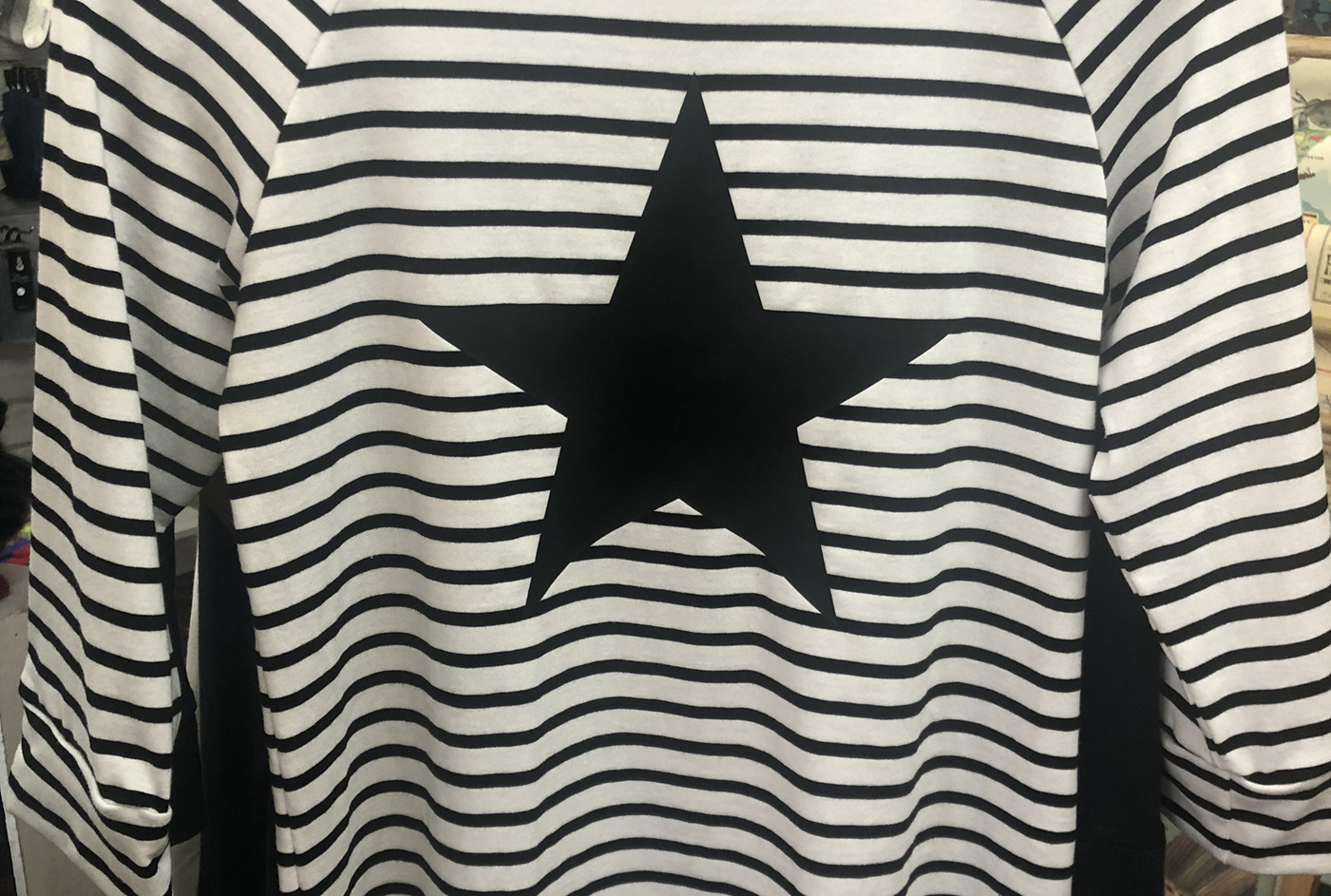 Kim Christina Stripe Star Tee