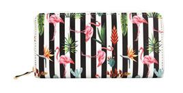 Striped Flamingo Wallet