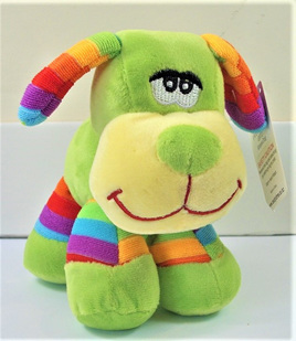 Stripes Dog Soft Toy: Green